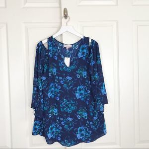 Philosophy Floral Tunic Top NWT